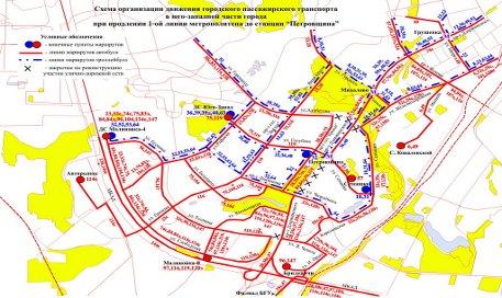 Схема маршрутной сети после